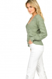 Dante 6 |  Knitted cardigan | green  | Picture 5