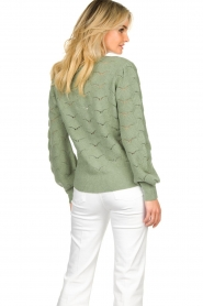 Dante 6 |  Knitted cardigan | green  | Picture 6