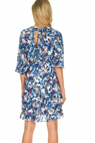 Dante 6 |  Print dress Amora | blue  | Picture 6