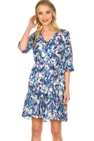 Dante 6 |  Print dress Amora | blue  | Picture 2
