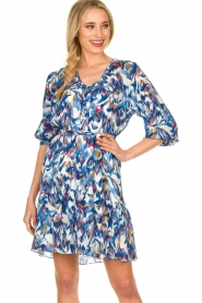 Dante 6 |  Print dress Amora | blue  | Picture 4