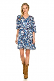 Dante 6 |  Print dress Amora | blue  | Picture 3