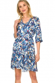 Dante 6 |  Print dress Amora | blue  | Picture 7