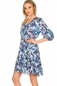 Dante 6 |  Print dress Amora | blue  | Picture 5