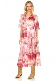Dante 6 |  Tie dye midi dress Avar | pink  | Picture 7