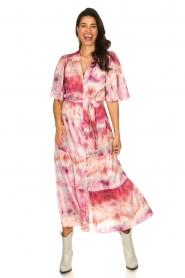 Dante 6 |  Tie dye midi dress Avar | pink  | Picture 3