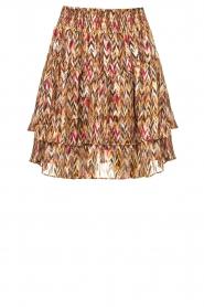 Dante 6 |  Printed ruffle skirt Wonderous | brown  | Picture 1