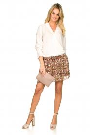 Dante 6 |  Printed ruffle skirt Wonderous | brown  | Picture 3