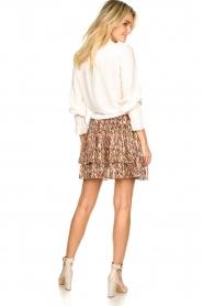 Dante 6 |  Printed ruffle skirt Wonderous | brown  | Picture 5