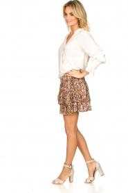 Dante 6 |  Printed ruffle skirt Wonderous | brown  | Picture 4