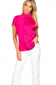 Dante 6 |  Blouse with bow Serena | pink  | Picture 2
