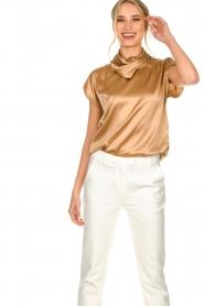 Dante 6 |  Silk top Devyn | brown  | Picture 6