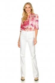 Dante 6 | Tie dye blouse Edda | roze   | Afbeelding 3