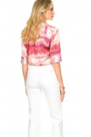 Dante 6 | Tie dye blouse Edda | roze   | Afbeelding 6