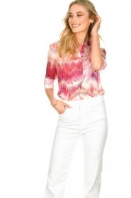 Dante 6 | Tie dye blouse Edda | roze   | Afbeelding 4