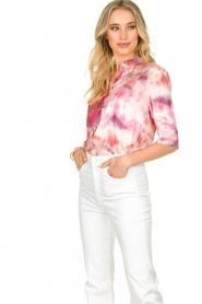 Dante 6 |  Tie dye blouse Edda | pink  | Picture 2