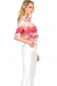 Dante 6 | Tie dye blouse Edda | roze   | Afbeelding 5