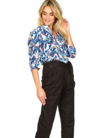 Dante 6 |  Water print blouse Reign | blue  | Picture 4