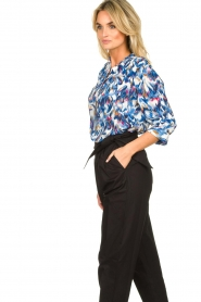 Dante 6 |  Water print blouse Reign | blue  | Picture 5
