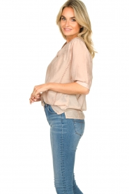 Dante 6 | Katoenen blouse Birken | nude   | Afbeelding 5