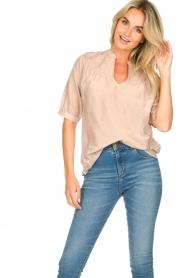 Dante 6 | Katoenen blouse Birken | nude   | Afbeelding 4
