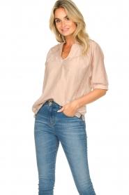 Dante 6 | Katoenen blouse Birken | nude   | Afbeelding 2