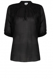 Dante 6 |  Cotton blouse Birken  | black  | Picture 1