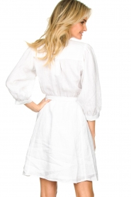 Dante 6 |  Linen wrap dress Leloutre | white  | Picture 5