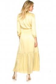 Dante 6 |  Satin midi dress Bardon | yellow  | Picture 5