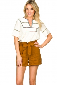 Dante 6 |  Linen shorts Ming | brown  | Picture 2