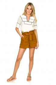 Dante 6 |  Linen shorts Ming | brown  | Picture 3
