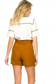 Dante 6 |  Linen shorts Ming | brown  | Picture 5