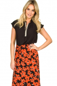 Dante 6 |  Blouse with embroidered details Bridger | black  | Picture 2