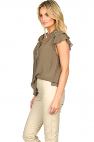 Dante 6 |  Top with embroidered details Bridger | green  | Picture 5