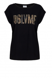 Dante 6 |  T-shirt with text Lovemetee | black  | Picture 1