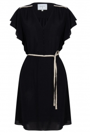 Dante 6 |  Dress with belt | black  | Picture 1