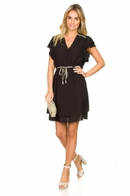 Dante 6 |  Dress with belt | black  | Picture 3