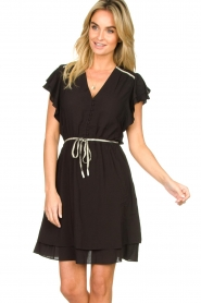 Dante 6 |  Dress with belt | black  | Picture 2