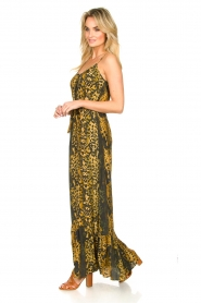 Dante 6 |  Leopard printed maxi dress Jardin | black  | Picture 4
