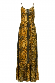 Dante 6 |  Leopard printed maxi dress Jardin | black  | Picture 1