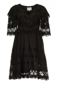 Antik Batik |  Cut open dress Ally | black  | Picture 1
