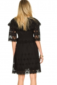 Antik Batik |  Cut open dress Ally | black  | Picture 7