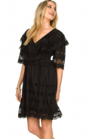 Antik Batik |  Cut open dress Ally | black  | Picture 5