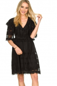 Antik Batik |  Cut open dress Ally | black  | Picture 2
