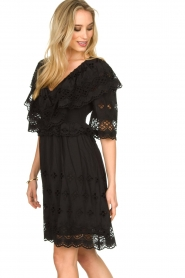 Antik Batik |  Cut open dress Ally | black  | Picture 6