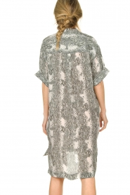 Notes Du Nord |  Silk print dress Oak | grey  | Picture 7