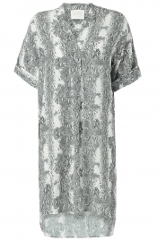Notes Du Nord |  Silk print dress Oak | grey  | Picture 1