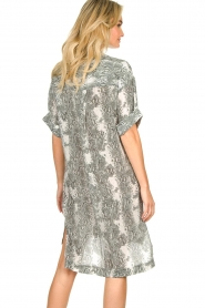 Notes Du Nord |  Silk print dress Oak | grey  | Picture 6