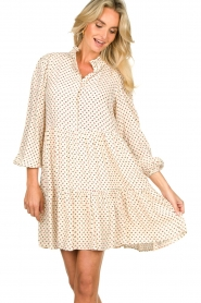 Notes Du Nord |  Floral dress Olivia | white  | Picture 4