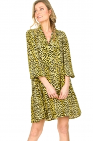 Notes Du Nord |  Panther dress Olivia | yellow  | Picture 2